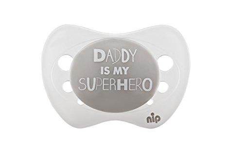 nip Schnuller Daddy is my superhero, Silikon, 0-6 Monate