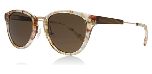 Shwood WAAB6B Blossom / Gold Blüten / Gold Ainsworth Round Sunglasses Lens Category 3 Size 49mm