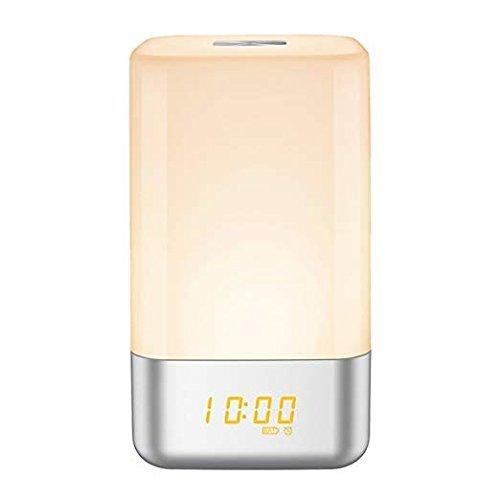 MINGPOND aufwachen licht wecker, mit touch - lampe mit sonnenaufgang simulieren, 5 natürlichen klingt, multi - licht - modi, usb aufgeladen, touch - control nacht licht im schlafzimmer