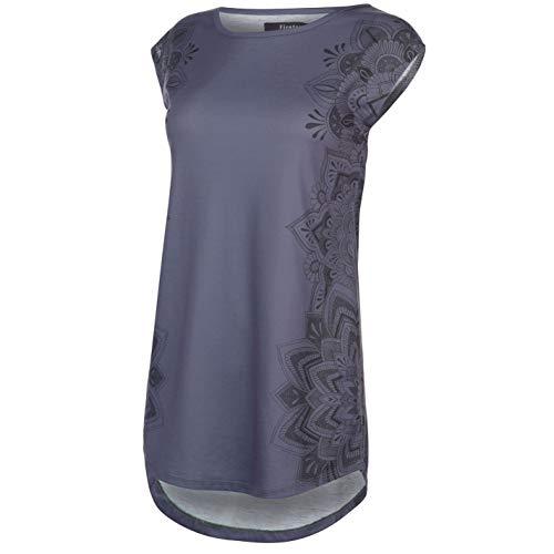 Firetrap Damen Macy T Shirt Top Rundhals Kurzarm Grafik Slate Flrl Side XS