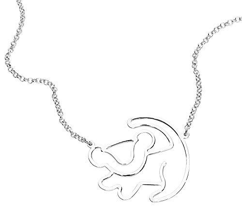 Unbekannt Der König der Löwen Disney by Couture Kingdom - Simba Silhouette Halskette Standard - Couture Schmuck Disney
