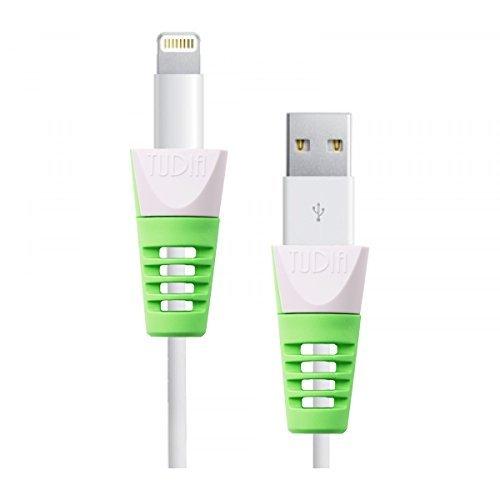 Tudia Klip scatto cavo di ricarica Schermo per Apple Lightning e cavi di ricarica 30pin per iPod/iPhone/iPad Green (2pcs)