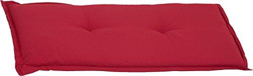 Beo BA2P213 Gartenbankkissen Bankkissen für 2-Sitzer, rot, 100 x 45 cm -