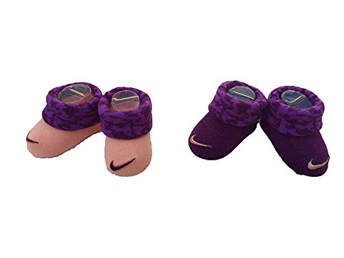 Camo Booty (Nike Infant Baby Futura Booties (2 Pair) (Purple (INK4982-2928) / Camo/Peach, 0-6 Months))