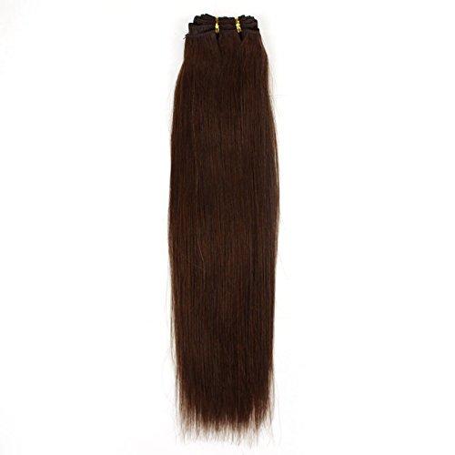 40,6 cm pouce (40 cm) 5 A droite cheveux non traités brésiliens vierges cheveux trame de cheveux remy extension de cheveux européenne cheveux lisses # 4 brun moyen