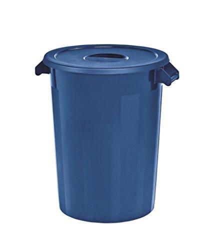 Kerafactum Großer Lagerbehälter Lager Futtertonne Behälter Tonne Zutatenbehälter mit Deckel universal aus Kunststoff blau 100 Ltr. Lagertonne farblich erweiterbar ingredients storage container