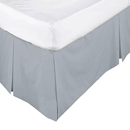EDS Tief Rüschen Volant Blatt Soft Uni gefärbt, Poly-Baumwolle, Bettwäsche, 50% Baumwolle, 50% Polyester, Grau, King Pleated Base Valance Sheet