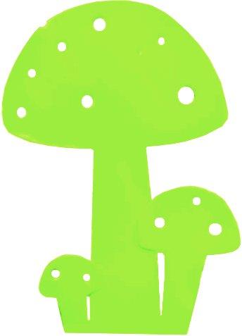 Champignon déco en métal vert 20cm