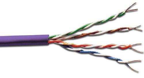 DIGITUS Professional CAT 6 U-UTP Roh-Installationskabel, Länge 100m, LSOH, AWG23/1, Simplex, Twisted Pair, Violett