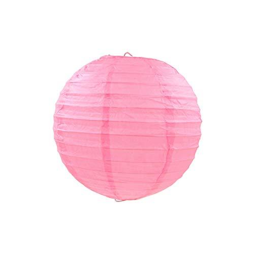 rlaternen Geburtstag Hochzeitsdeko Geschenk-Fertigkeit DIY hängende Kugel-Partei-Versorgungsmaterialien, rosa, 14inch 35cm ()