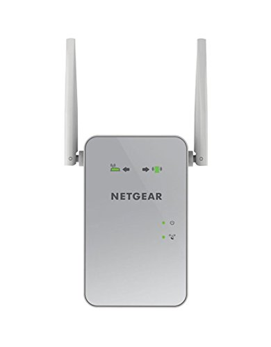 Netgear EX6150-100PES AC1200 Dual-Band Universal WLAN Range Repeater (RJ-45, 1200Mbit/s, Access Point) Weiß/silber (Wireless-n-router-dual-band)