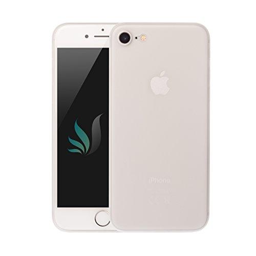 IPhone 8 / Hülle IPhone 7 Hülle Weiß [Transparent] Matt i-Spring 0.35mm höchste Qualität Ultra dünn Passt perfekt Handy Schutzhülle Bumper Case 4.7 Zoll