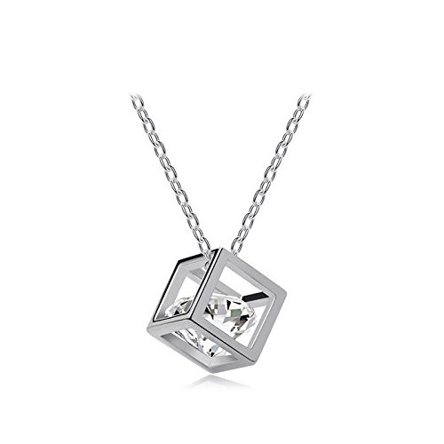 Nakabh Timeless Crystal Stone Pendant Necklace For Girls & Women
