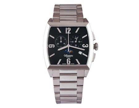 Men's watch with stainless steel rectangular chronograph wrist strap ALTANUS 7917B-N