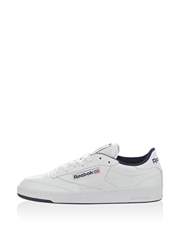 Reebok Club C 85, Chaussures de Fitness Homme Multicolore (White/navy)