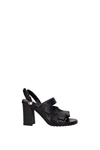 XXW0WB0Q180BR0B999 Tod's Sandale Femme Cuir Noir Noir