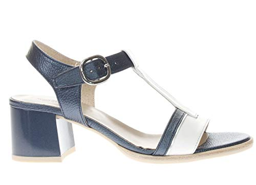 Nero Giardini Sandali Tacco Una Fascia Donna Blu/Bianco 38 Taglia Europea : 38 EU