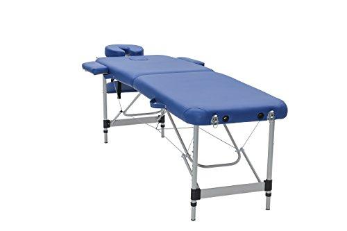 Mari Lifestyle Massagetisch | Einstellbare & Leichte Aluminium Massageliege 2 teilig | Unterstützt Haltung & Stabilität | Für Spa, Masseure, Friseure, Tätowierer & Privatnutzung | 186 x 60cm - 10,8 kg -