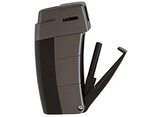 Xikar Pfeifenfeuerzeug Recource gunmetal-schwarz inkl. Lifestyle-Ambiente Tastingbogen