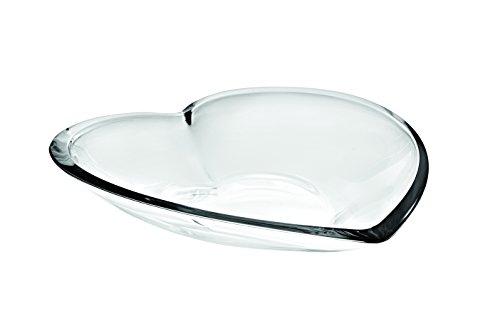 vidivi vetri delle venezie cuore set 1 centrotavola e 1 coppa, 2 unità