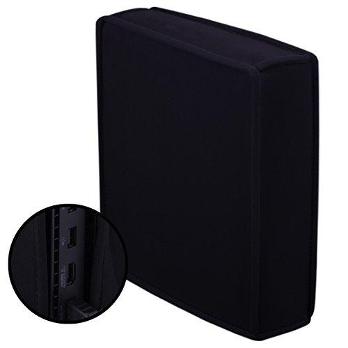 Pandaren® Staub Beweis Neoprene Cover Abdeckung vertikal für Xbox One X (schwarz) (One-staub-abdeckung Xbox)