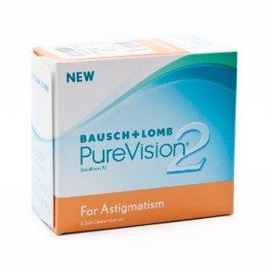 Pure Vision 2 HD for Astigmatism, 1x6 Stück, BC: 8.9, DIA: 14.0, Cyl: -0.75, Achse: 090, Dioptrien: -6.50