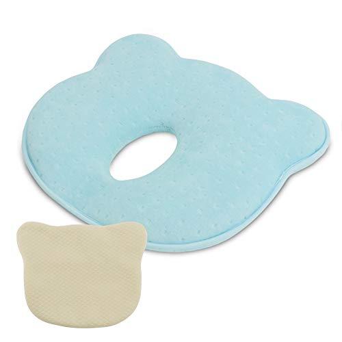 Grand Line Flat Head Kissen des Kopfes Shaping Memory Foam für Baby Infant Newborn mit Beige Bio-Baumwolle Kissenbezug - Baby-kissen Head Flat