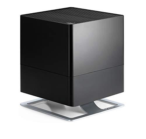 Stadler Form Luftbefeuchter Oskar, energiesparender Raumbefeuchter für Räume bis 50 m², Verdunster mit Abschalt-Automatik, dimmbare LEDs, sehr leise, schwarz