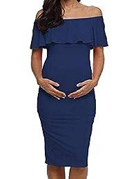 b3d847727 Vectry Ropa Mujer Embarazada Vestidos de Premama para Fotos Vestido Cruzado  Midi Vestidos Cortos Verano 2019 Vestidos Casual de Mujer…