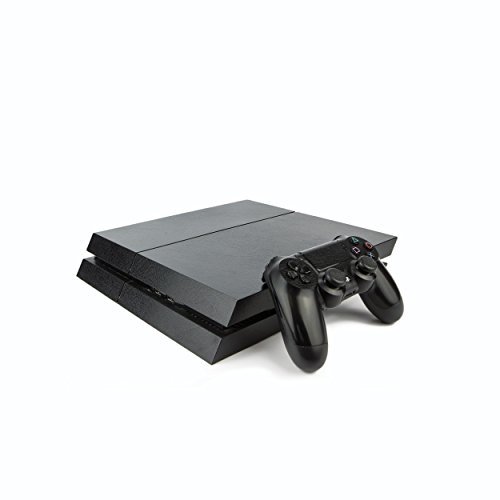 Vinyl Revolution Playstation 4 Schutzhülle aus Leder für PS4 Konsole und PS4 Controller: Leder (Kontakt-info-aufkleber)