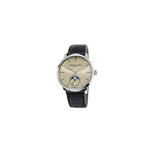 Frédérique konstante Männern Slimline Automatik Edelstahl und Leder Casual Uhr, Farbe: Schwarz (Modell: fc-705bg4s6)