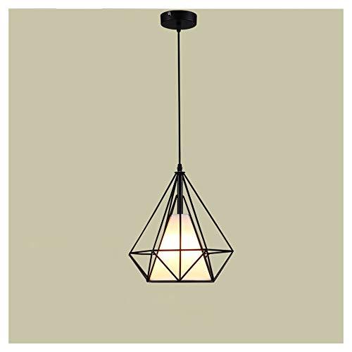Eingerieben Bronze-insel-licht (Vintage industrielle Schwarze Pyramide Käfig Schatten Multi Anhänger Beleuchtung Fixture-3 Lichter rustikale Insel Kronleuchter E27 Lampenfassungen,2,25cm)