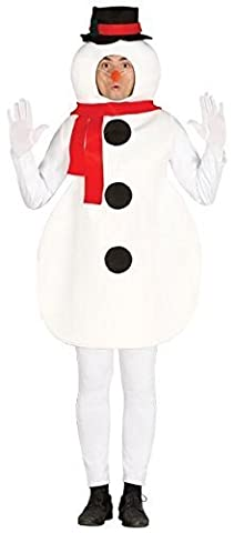 Mens Ladies Silly Snowman Christmas Xmas Festive Fancy Dress Costume Outfit One Size