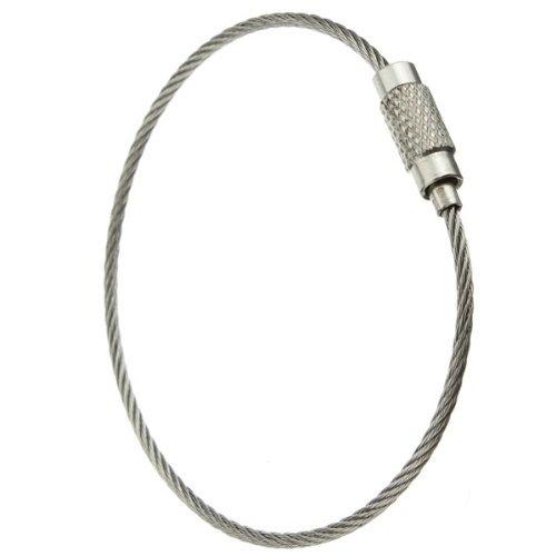 SODIAL (R) 30pcs in acciaio inox Vite di bloccaggio del filo portachiavi Portachiavi Cable Accessori Outdoor