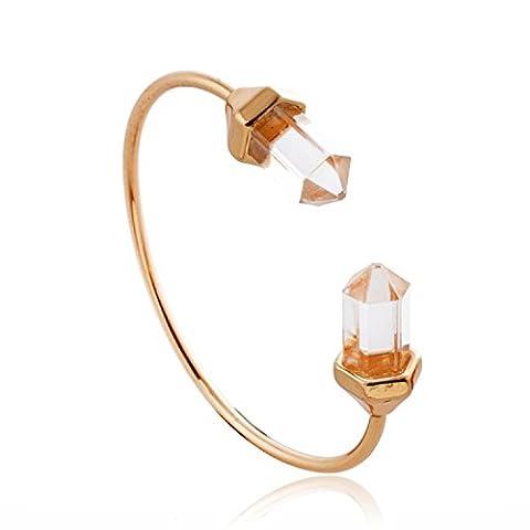 lureme® nouveau style guérison de cristal point de brassard de quartz naturel bracelet (06002666)