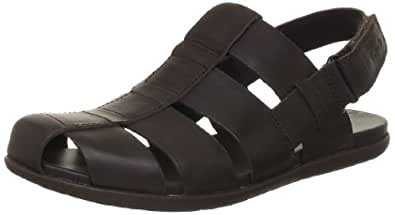 Clarks Men's Valor Sky Dark Brown Leather Sandals and Floaters - 6.5 UK