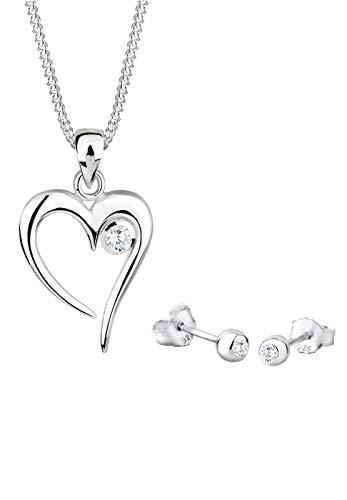 Elli Damen-Schmuckset: Halskette + Ohrringe 925 Sterling Silber Länge 45cm 0912261311_45