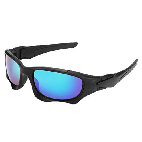 fazry Herren Damen Retro Draussen Sport Sonnenbrille Brille Brillen (A)