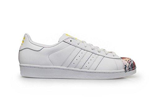 adidas , SUPERSTAR 1 MR SPORT SHELL TOE mixte adulte White-Scarlett Stripe-White Sole