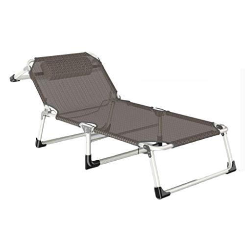 Hh001 Klappbett Einzelnen Einfachen Camp Bett Home Begleitbett Erwachsene Outdoor Tragbare Stuhl Büro Nickerchen Klappbett (Color : Brown, Size : 190 * 70 * 30CM)