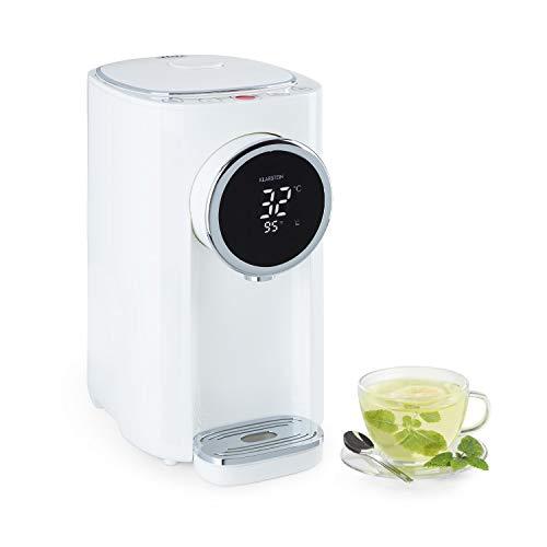 Klarstein Hot Spring Plus - Distributeur d'eau chaude : réservoir d'eau: 5L, écran LCD, températures: 45-95 °C, réservoir d'eau en inox, sécurité enfants et anti-surchauffe, blanc