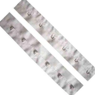 Baumwollband Weiß Haken und Ösen - Pro Meter (Korsett Öse Haken)