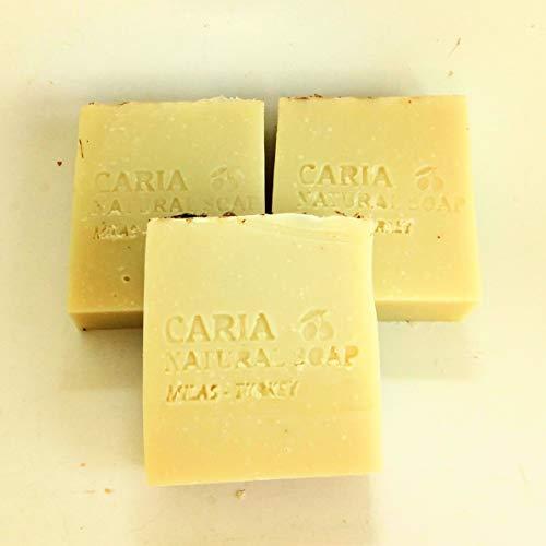 3 x CARIA Pin Crémeux Lavande Extra savon à l'huile d'olive Barre à l'huile de coco Beurre de cacao Fait à la main Naturel Vegan Shampooing Visage Corps 100g