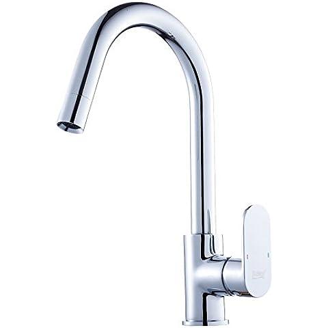 Grifo retro de la cuenca del estilo europeo Todos grifo del lavabo Vehículos de la cocina de cobre se hunden agua caliente y fría del grifo SLT