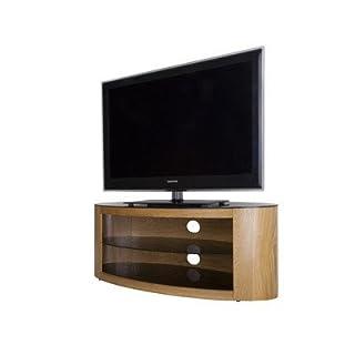 AVF FS800BUCO Buckingham Oak TV Stand Oval Shaped with 2 Shelves for 14-40 inch LCD Plasma LED Screens