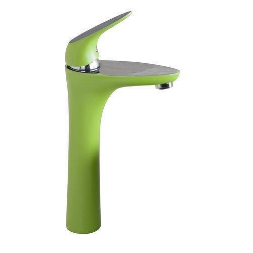 Tourmeler Grün groß Chrom einzigen Griff/Loch + Spray Auswurfkrümmer + Messinggehäuse+2 Schlauch Deck Mount Waschbecken Waschbecken Torneira tippen Sie auf Mischpult Wasserhahn, Grün (Deck Mount)