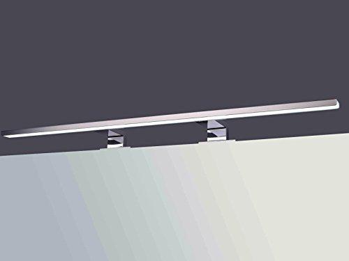 LED Spiegelleuchte Spiegellampe Aufbauleuchte verchromt 800mm tageslichtweiß 230V 13W