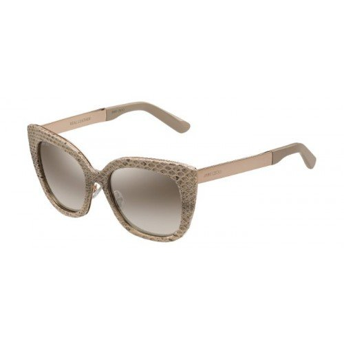Jimmy Choo Sonnenbrille Nita/S Nq Nude Leather Gold, 53