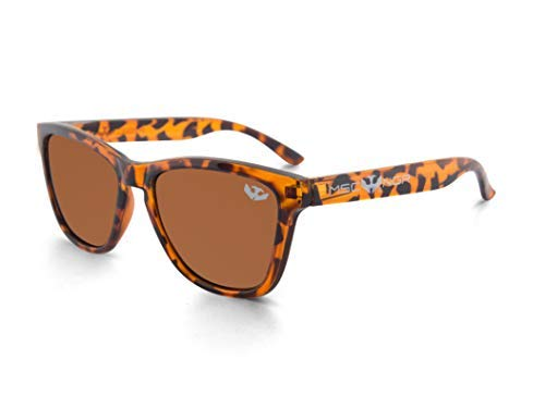 Gafas de sol MOSCA NEGRA ® modelo ALPHA SPLASH Brown Leopard - Polarized