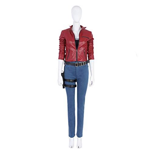 CosplayJet Damen Cosplay Kostüm für Resident Evil 2 Claire Redfield Ganzkörperanzug Outfit Halloween Kostüme XX-Large (Claires Zubehör Halloween)